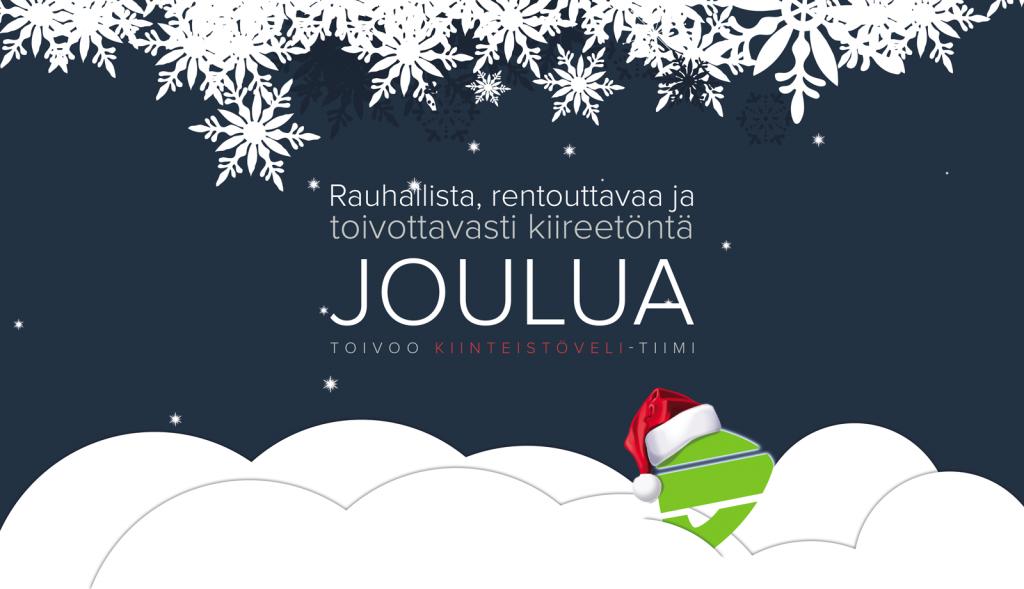 Rauhallista joulua ja menestyksekästä uutta vuotta!